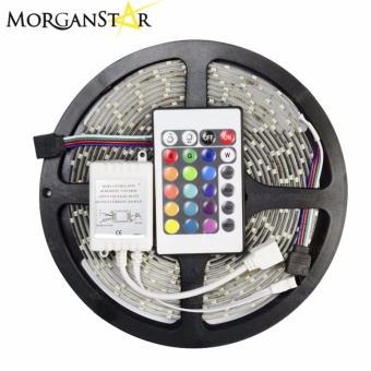 Waterproof 5M RGB 300 LED 5050 SMD Light Strip IR Remote 12V 5A Power