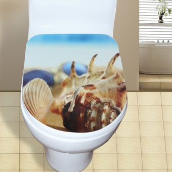 Waterproof environmentally friendly bathroom stickers toilet stickers
