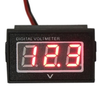 Waterproof Monitor Battery Meter 2.5-30V DC Auto Gauge SmallDigital Voltmeter Red LED Reverse Polarity Protection - intl