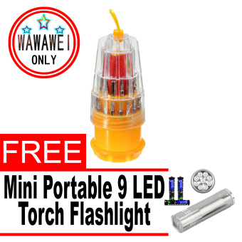 Wawawei HS-6036A/JK-6036C 31 in 1 Precision Magnetic MiniScrewdriver Set Phone Repair Kit Torx Tools Sets with free MiniPortable 9 LED Torch Flashlight 3AAA with Battery for CampingFishing Light Lamp (Silver)
