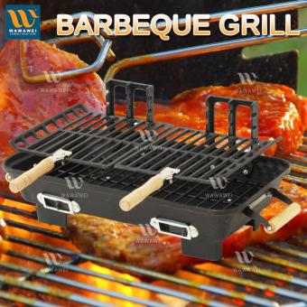 Wawawei Outdoor Barbeque Double Grill Adjustable Height #32874