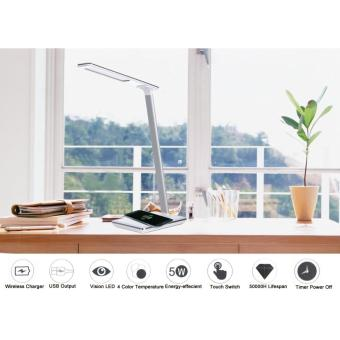 WD102 Folding LED Desk Table Lamp with Qi Wireless Charger