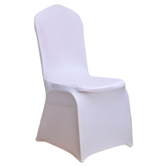White banquet conference hotel chair cover