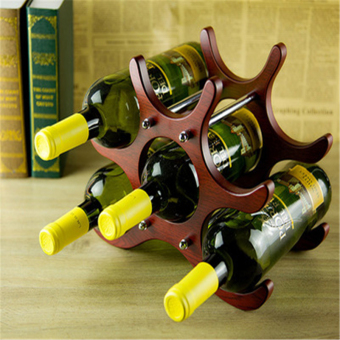 Wine racks Red Wooden and Stainless Steel Red Wine Rack - intl