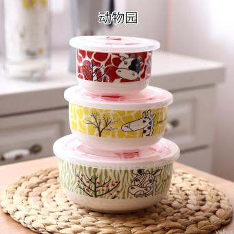 With lid freshness bowl microwave bowl