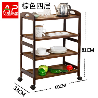 With wheels trolley dining car storage rack kitchen shelf