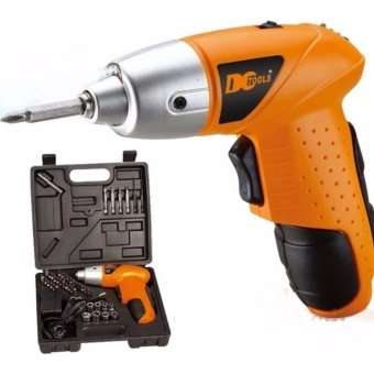 YG Mini Portable Electric Drill Cordless Screwdriver 45pcs TOOLs (Orange) Rechargeable Drill and Screw Gun 45 Piece Accessories Full kit