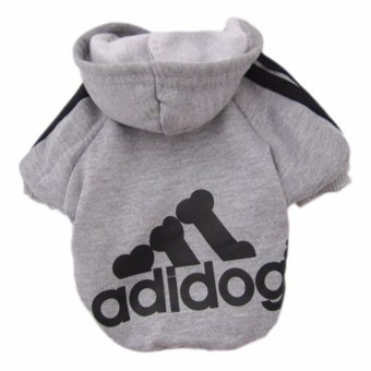 YingWei Dog Pet Cat Sweater Hoody Coat Jacket Puppy clothes M(Grey)- intl