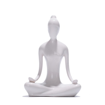Yoga Girl Ceramic Sculpture Home Decor Creative Modern ArtFigurines - intl