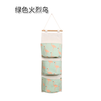 Yousiju cotton linen multi-wall-mounted storage bag hanging bag