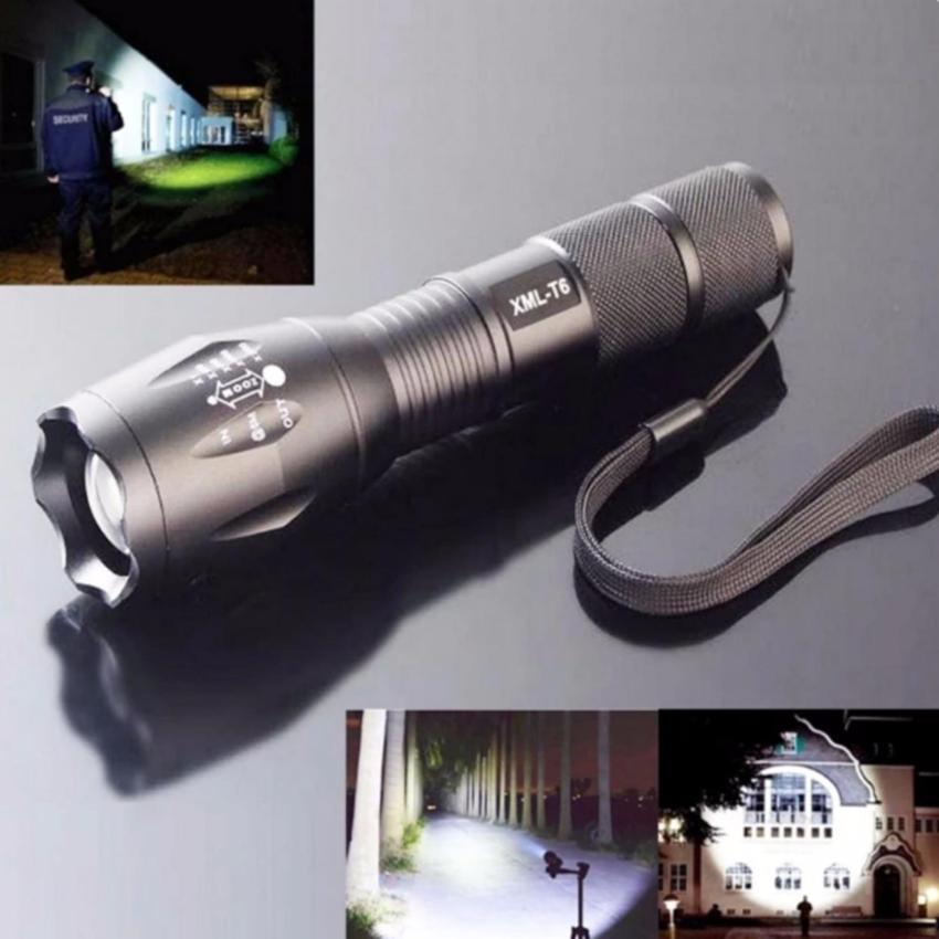 ZK20 3800LM Cree XM-L T6 1600LM 5Modes Zoomable LED Flashlight
