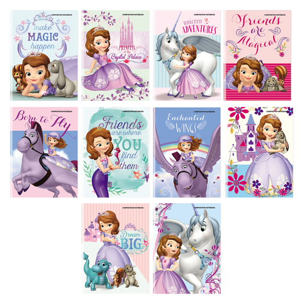 Image of Orions Sofia the First Composition Notebook Set of 10
