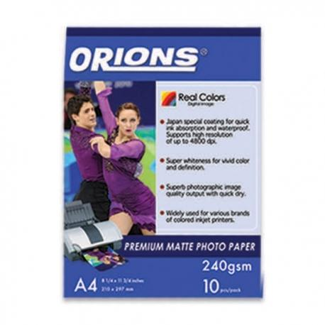 Image of Orions Photo Paper A4 Premium Matte 240gsm