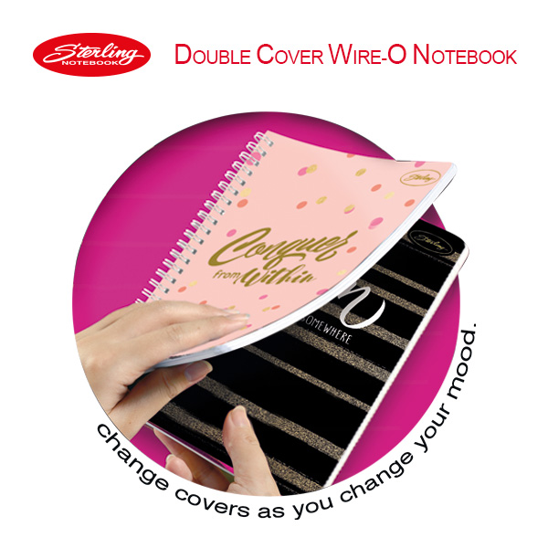 Image of Sterling Fabulous Me Double Cover Wire-O Notebook Design 7