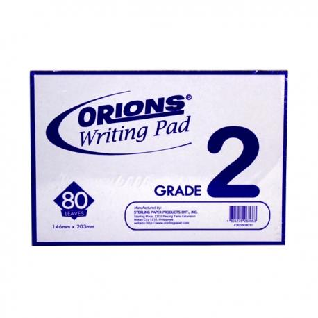 Image of Orions Writing Pad Grade 2 Solo