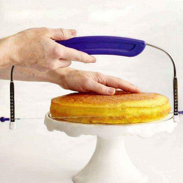 Máy Cắt Bánh OEM Dụng Cụ Làm Bánh Dụng Cụ Làm Bánh Cắt Lát Dây Thép Không Gỉ Có Thể Điều Chỉnh Được Cho Bánh Trong Vòng 10