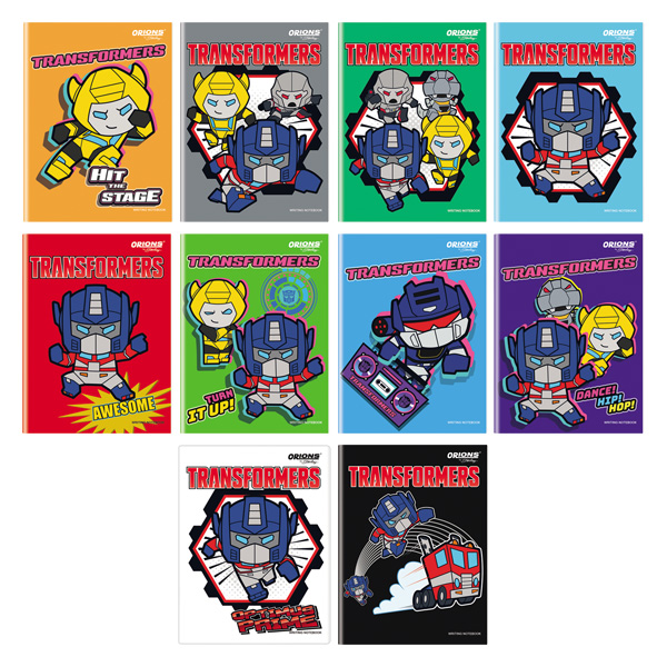 Image of Orions Transformers Writing Notebook Set of 10