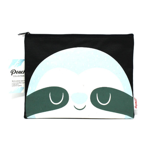 Image of Sterling Bluish Sloth Big Fabric Pouches