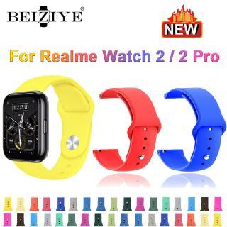 Dây đeo thể thao thay thế silicon mềm cho đồng hồ realme 2 Dây đeo đồng hồ cho đồng hồ thông minh Realme Watch2 pro Dây đeo cổ tay thumbnail