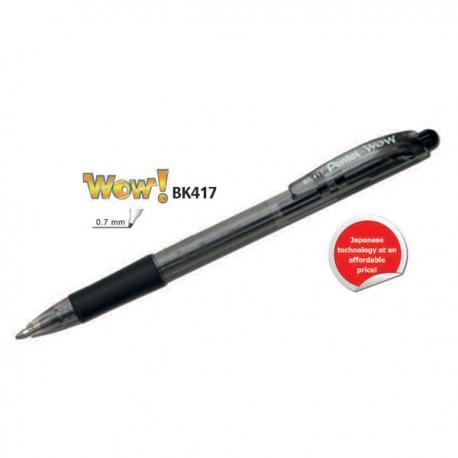 Image of Pentel Wow BK417 Ball Point Pen Black