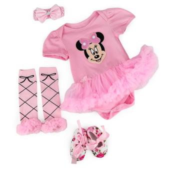 0-3M Minnie Mouse Baby Kids Girls Tutu Dress Set with ShoesLeggings and Headband Toddler Christening Bodysuit RomperPhotography Birthday Costume