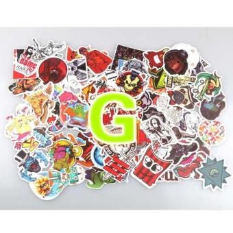 100pcs Sticker Bomb Graffiti Vinyl For Car Skate Skateboard Laptop Luggage Decal - intl