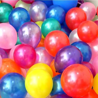 100pcs/lot 10 Inch 1.8g Mixed Color Latex Helium Balloon Thickening Pearl Balloons for Wedding Birthday Party Decorations Child Toys Gifts - intl