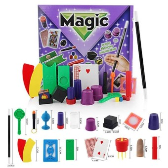 11/17 Kinds Funny Magic Tricks Prop Training Set for Party Stage Props - intl