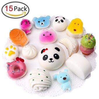 ... 15 PCs Cute Jumbo Mini Random Squishy Soft Phone Straps