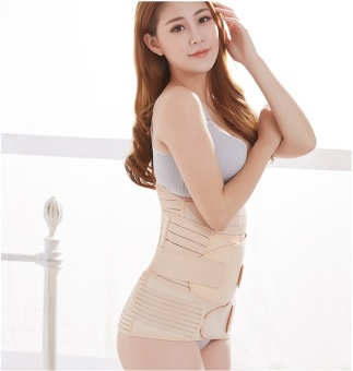 3 in 1 Breathable Elastic Postpartum Postnatal Recovery Support Girdle Belt for Women and Maternity (Free Size) - intl