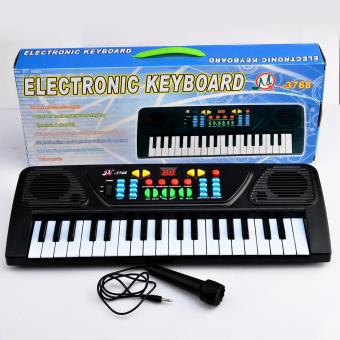 360DSC 37 Key Electronic Keyboard Piano Musical Toy for Children 3768 - Black - intl