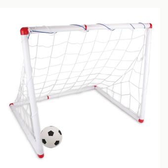 360DSC DIY Youth Sports Soccer Goals with Soccer Ball and PumpPractice Scrimmage Game - White - intl Price Philippines