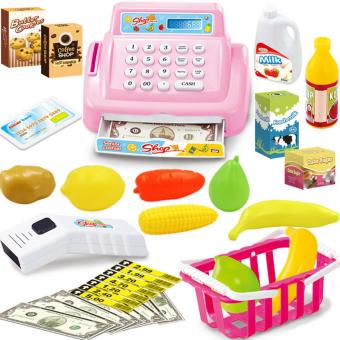 360DSC Kids House Toy Mini Store Shop Cash Register Kit Toy Pretend& Play Playset - Pink - intl Price Philippines
