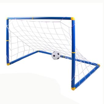 360DSC Large Size Kids Sports Soccer Goals with Soccer Ball andPump Practice Scrimmage Game - Blue + White - intl Price Philippines