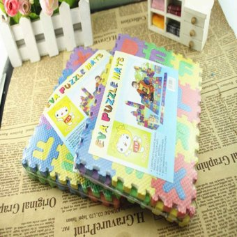 36pcs Small Size Puzzle Baby Educational Toy Alphabet LettersNumeral Foam Mat - intl