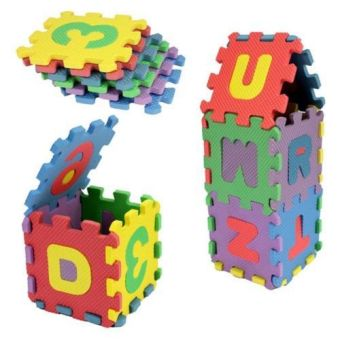 36pcs/set Kids Child Baby Infant Mini Maths Educational Puzzle KidAlphabet Letters Numeral Foam Play Mat Chlidren Toy - Intl
