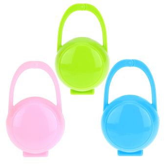 3pcs Baby Soother Container Holder Pacifier Dummy Box TravelStorage Case