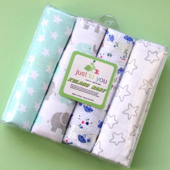 4pcs/pack 76cm*76cm 100%cotton flannel Receiving blanket for swaddling newborns - Soft & Absorbent burp cloths - intl