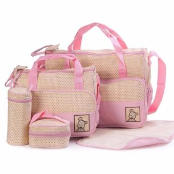 5-piece Baby Changing Diaper Nappy Bag Handbag Multifunctional Bags Set