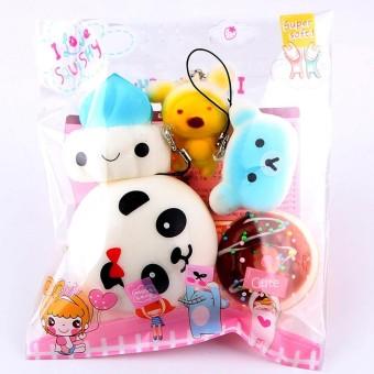 Garnerstore 5pcs Medium Mini Soft Squishy Bread Toys Key - intl