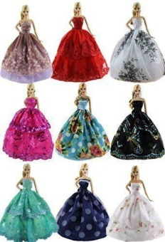 6 pcs Fashion Handmade Clothes Dress for Barbie Doll - intl