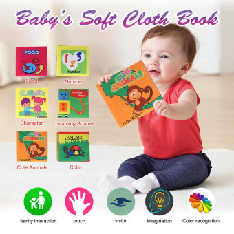 6Pcs Non-Toxic Fabric BookWashable Soft Cloth Book Early Education Intelligent Toy for Infant Toddler Kids Learning - intl