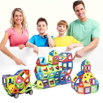 76PCS Kids DIY 3D Magnetic Blocks Multicolour Construction Building Toy Puzzles - intl
