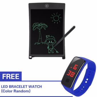 8.5 Inch LCD Writing Tablet Portable Drawing Board(black) with Free LED Watch