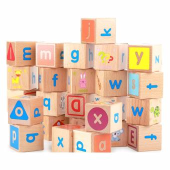 ABC Combination Building Blocks Educational Wooden Toys Alphabet