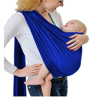 Adjustable Baby Water Ring Sling Baby Carrier Infant Wrap withAluminum Ring (Royal Blue) Price Philippines