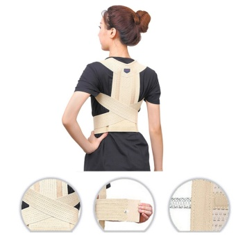 Adjustable Back Support Posture Corrector Magnetic Brace ShoulderBand Belt Size XL - intl