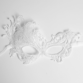 Andux Lace Eyes Mask Sexy for Masquerade Party Fancy Dress LSMJ-01White