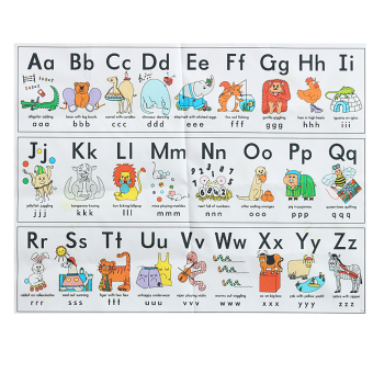 Animals ABC Alphabet Learn Children Educational Silk Cloth Poster Decor 33x43cm - intl