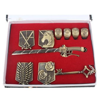 Anime Attack On Titan AOT Badges Rings Swords Cosplay Collection 10Piece Set Price Philippines
